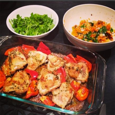 Homemade Piri Piri Chicken with Sweet potato and green salad