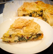 Homemade Spinach and feta cheese pie